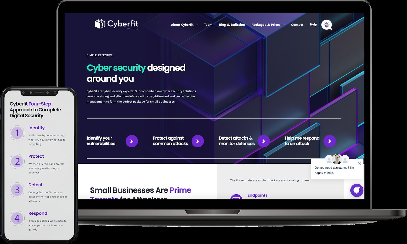Laptop - Cyberfit UK - Website Design